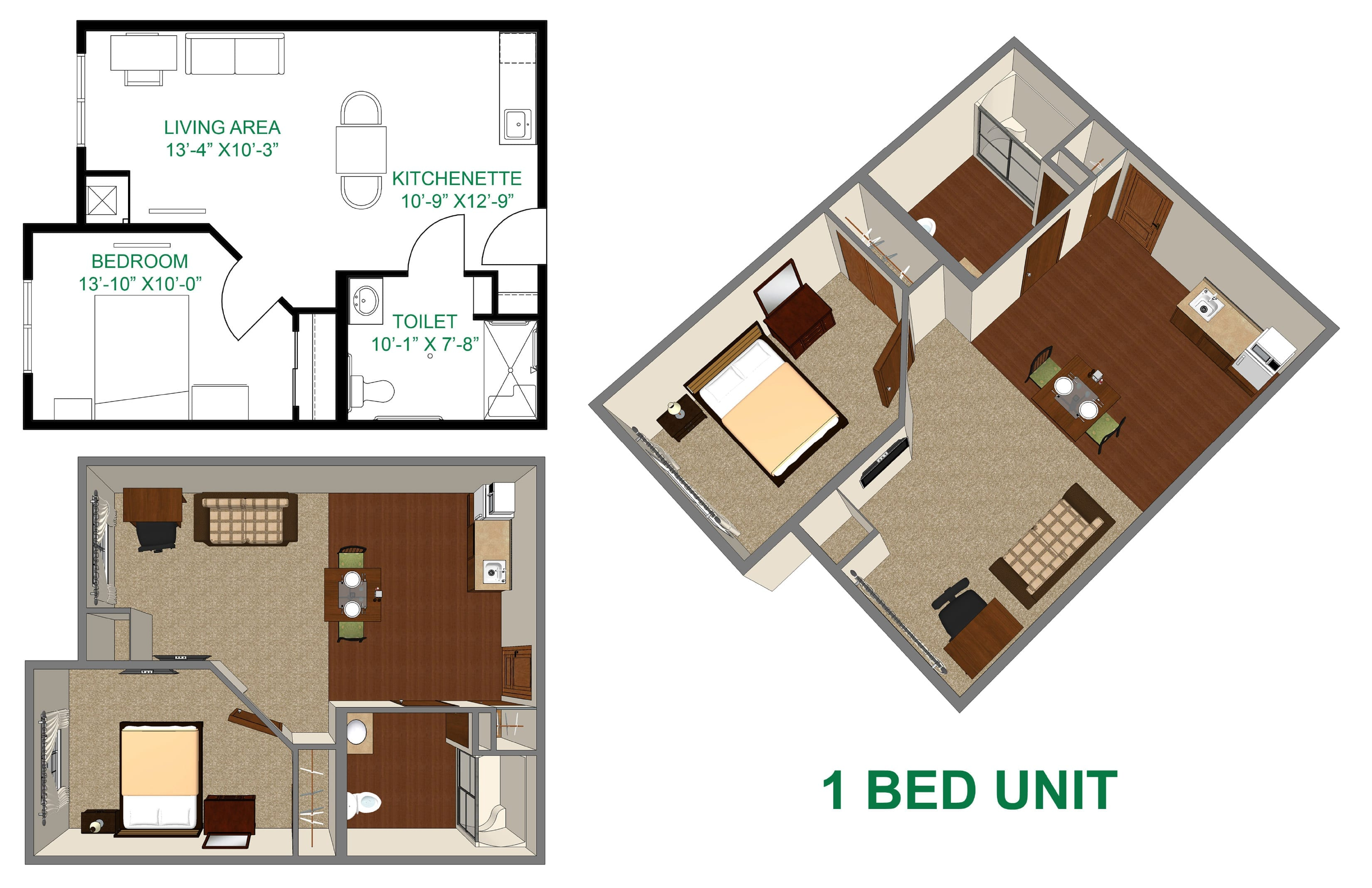 assisted living bedroom 1 layout