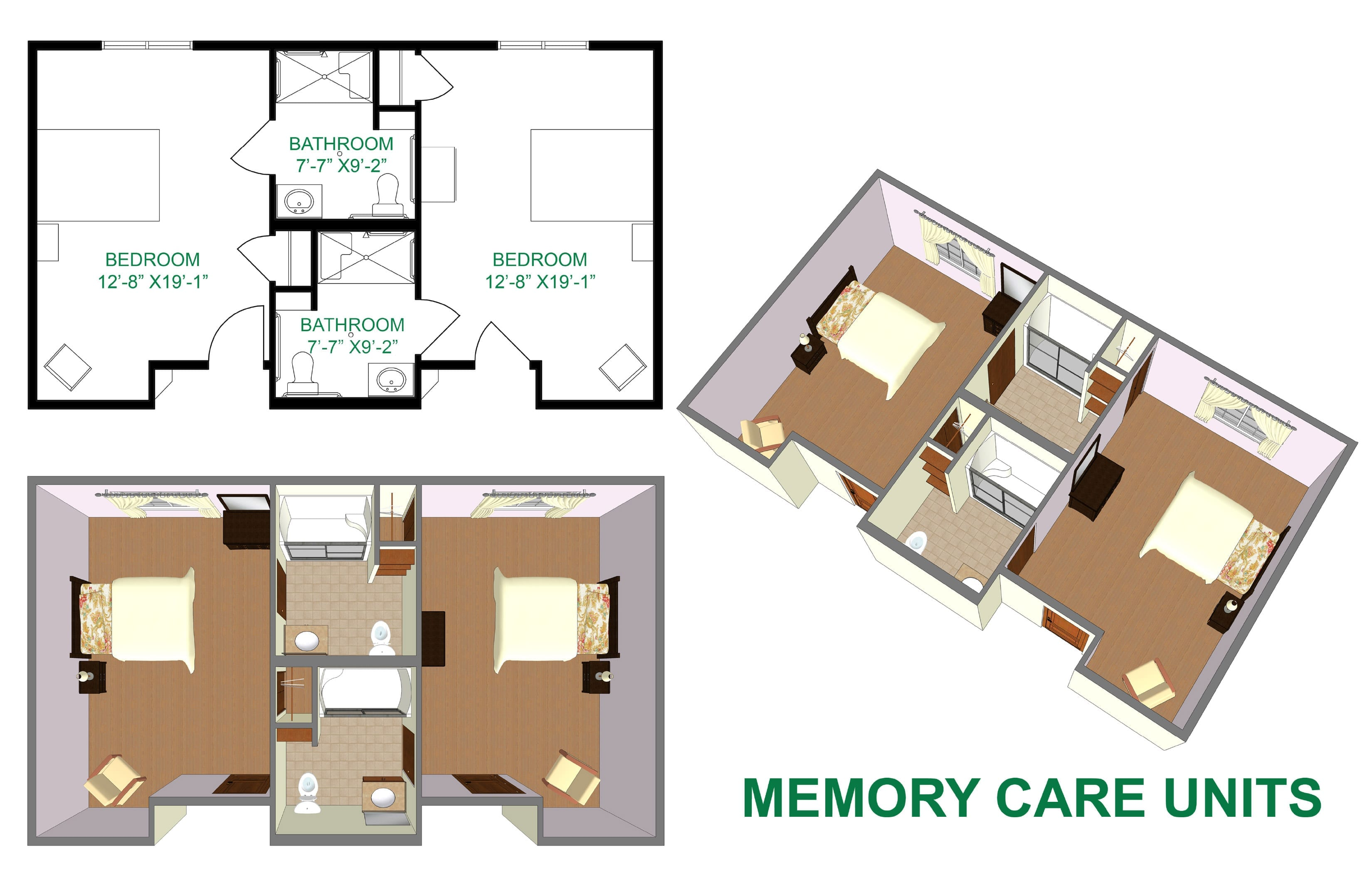 memory care room layout