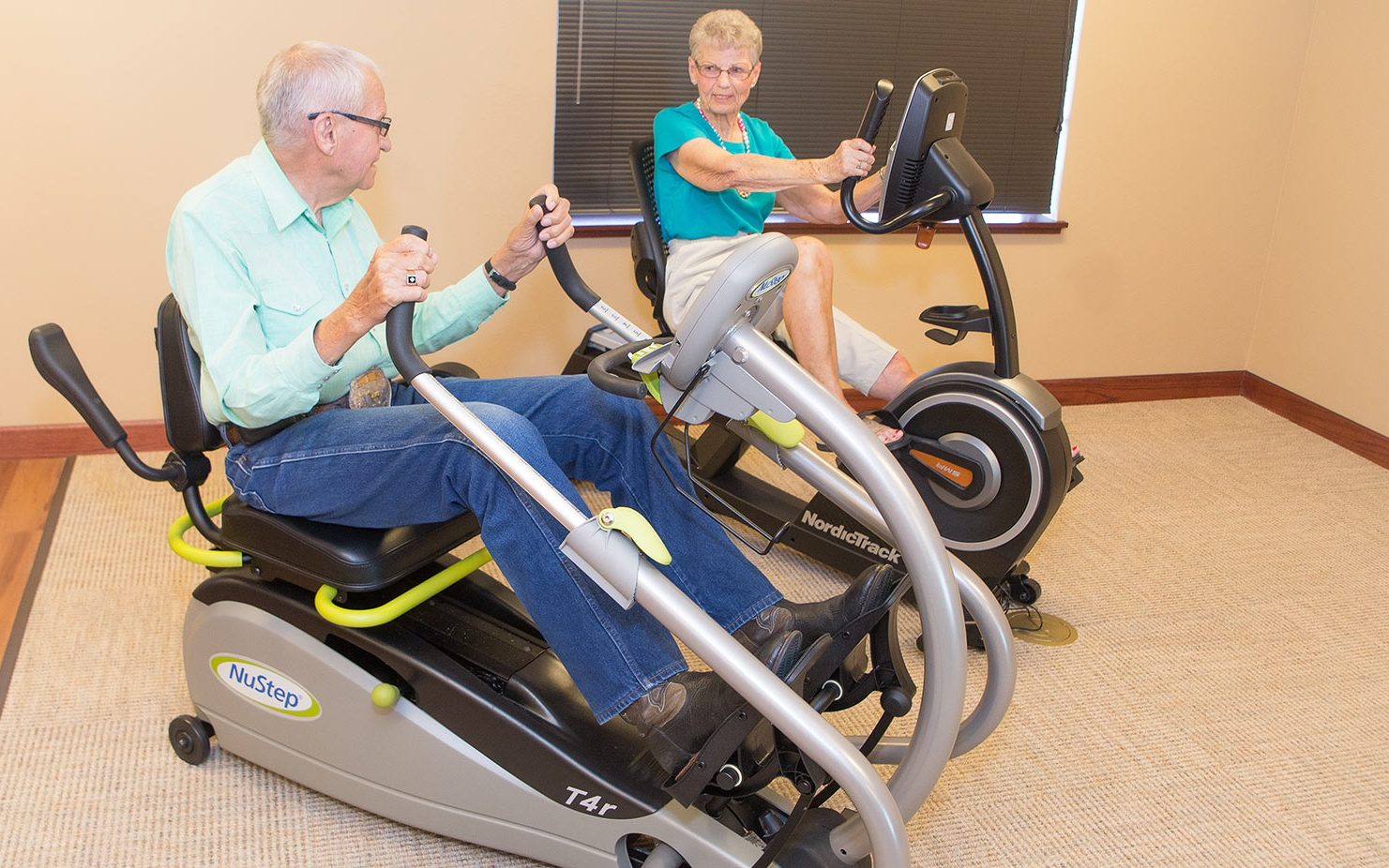 Exercise equipment at the Village at Skyline Pines