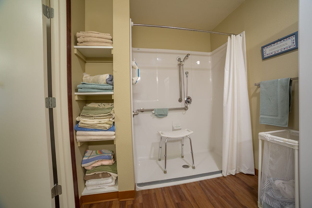 The Village at Skyline Pines assisted living bathroom